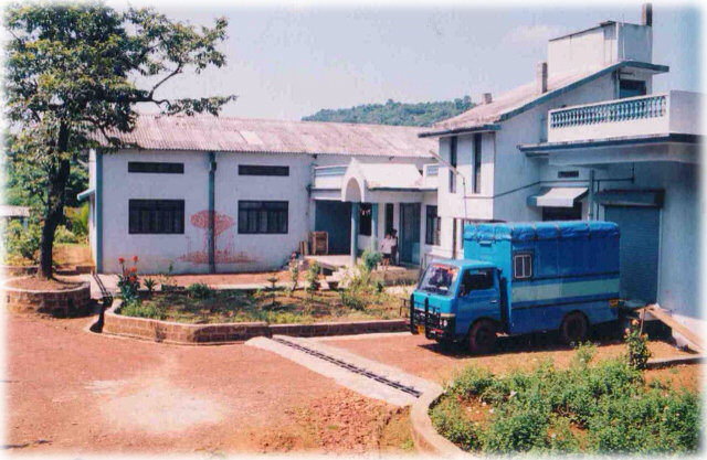 A complete side view of the present campus.