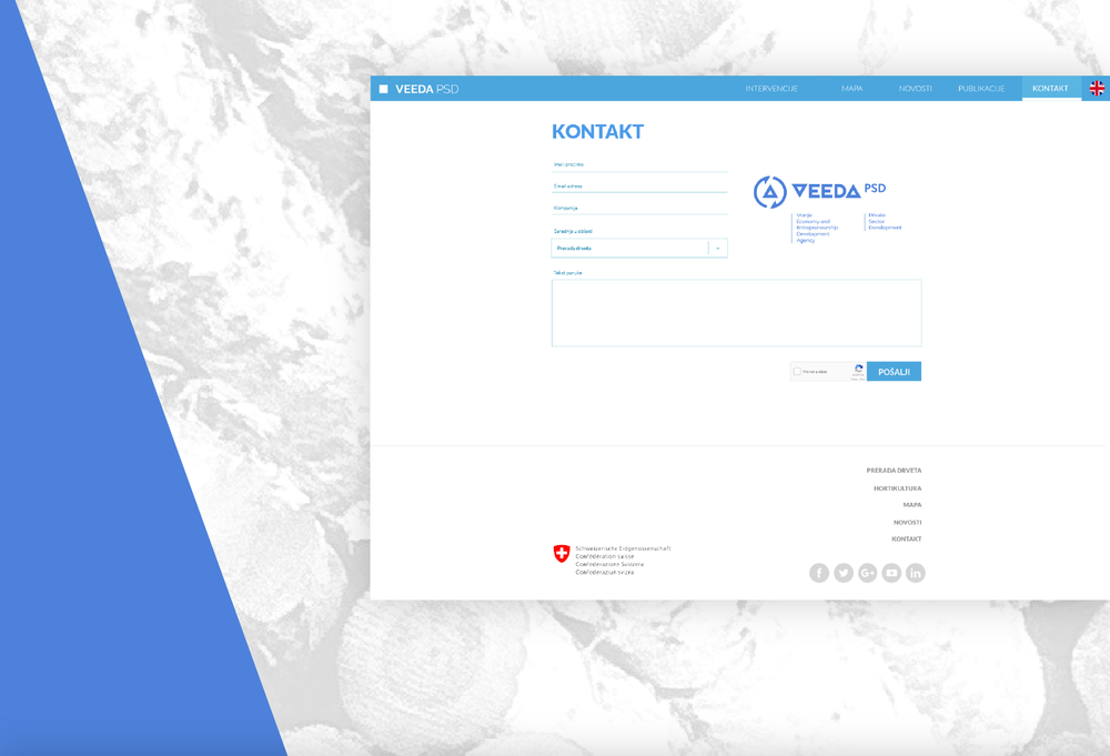 VEEDA-Contact form UI