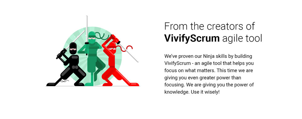 VivifyScrum EDU Ninja illustration