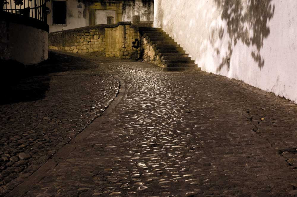 Cobbled Spanish street