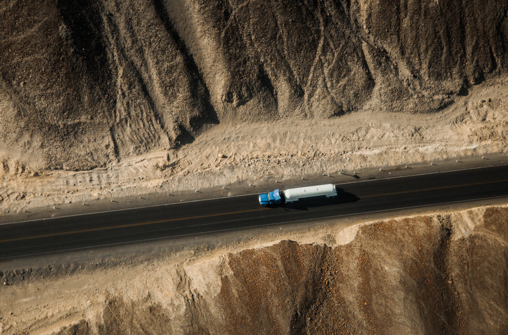Ariel shot a truck on the Pan Am highway in Peru