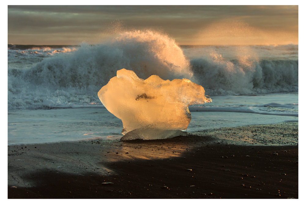 Ice On Beach - Iceland 2014
