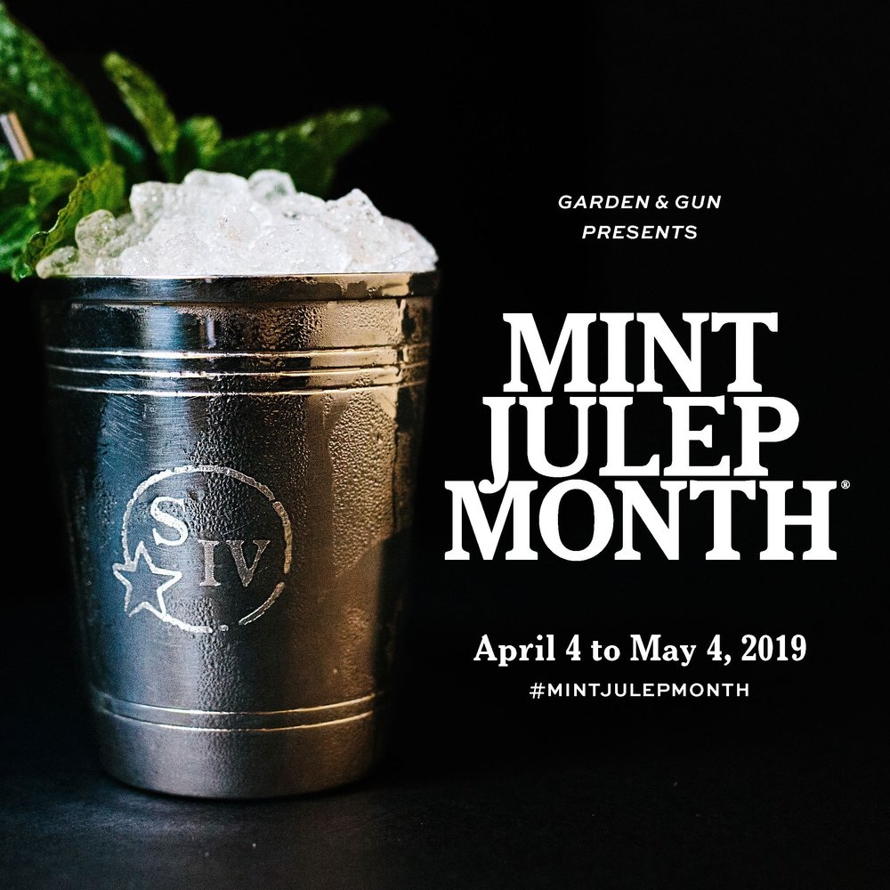 """Count down to the Kentucky Derby by celebrating the classic Southern cocktail for thirty days leading up to """"the most exciting two minutes in sports"""". Try our Soda Fountain Julep, a mix of Maker's Mark Bourbon, Amaro Averan, vanilla & mint…reminiscent of old school soda fountains."""