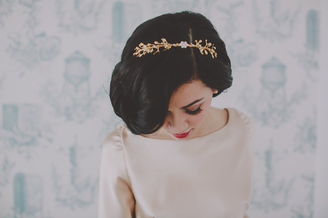 gold branch headband wythe hotel hushed commotion
