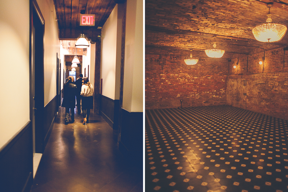 How stunning is this lower level intimate private event space?!