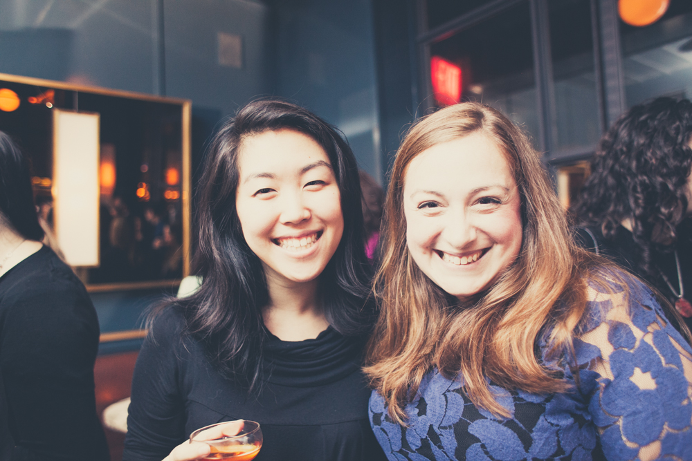 Smiling faces! Katherine Cho and Shana Sperling Events.
