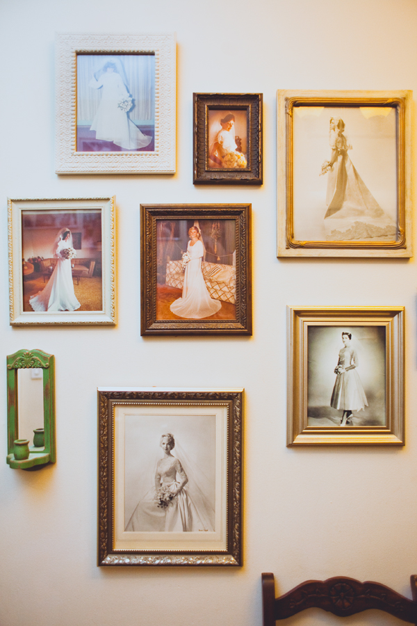 Love this wall of vintage brides at the StylesOnB Salon....