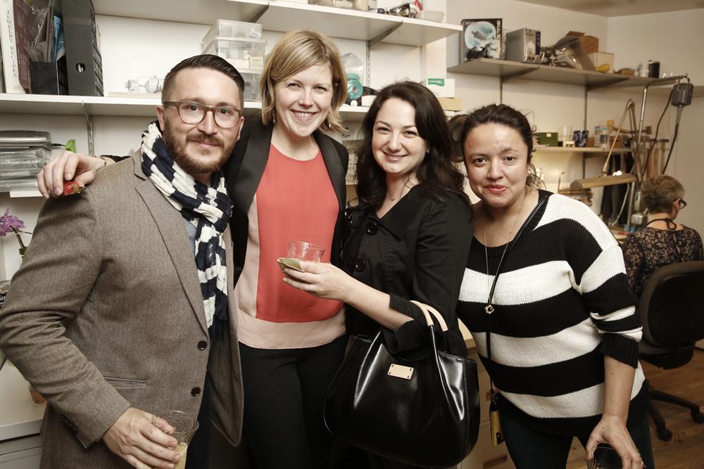Black, white and orange! ( Jove Meyer , Leah of Reinstein Ross, Jaine of  BrklynView ,  Amber Gress )