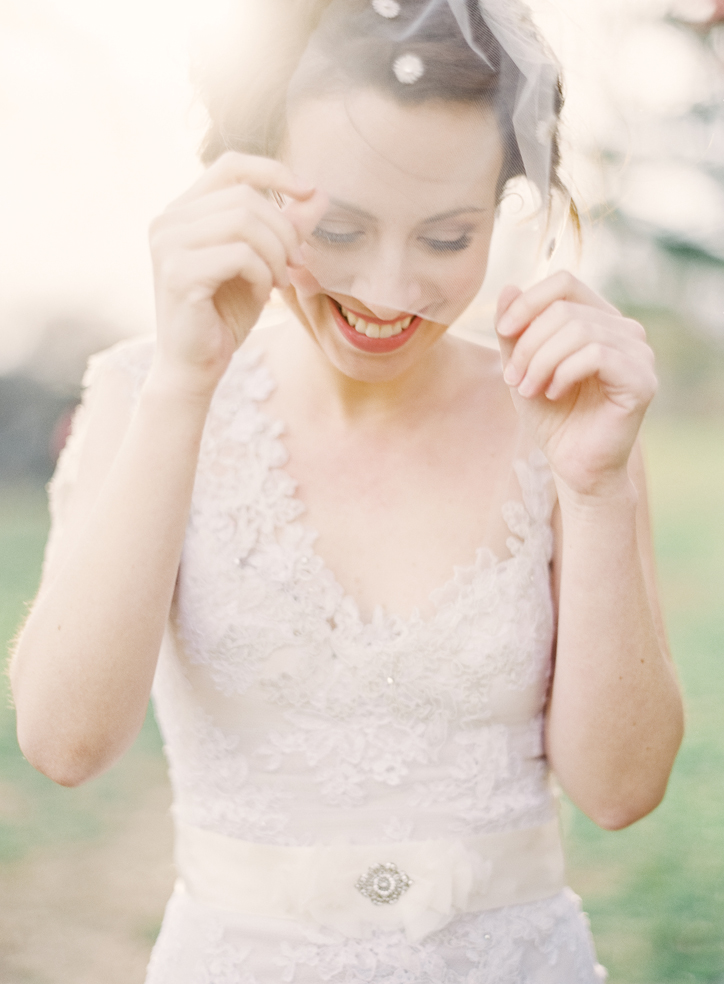 silver vintage tulle birdcage veil hushed commotion laugh.jpg