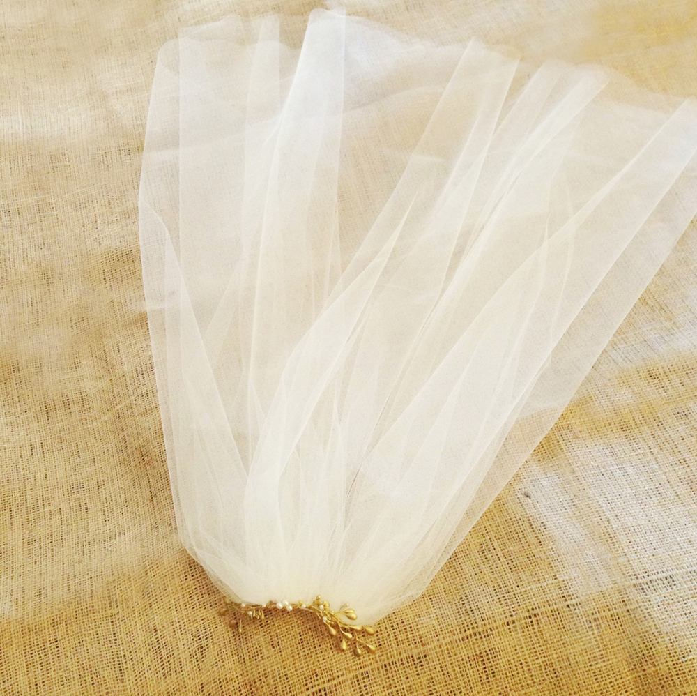 gold tulle veil branch wedding hushed commotion.jpg