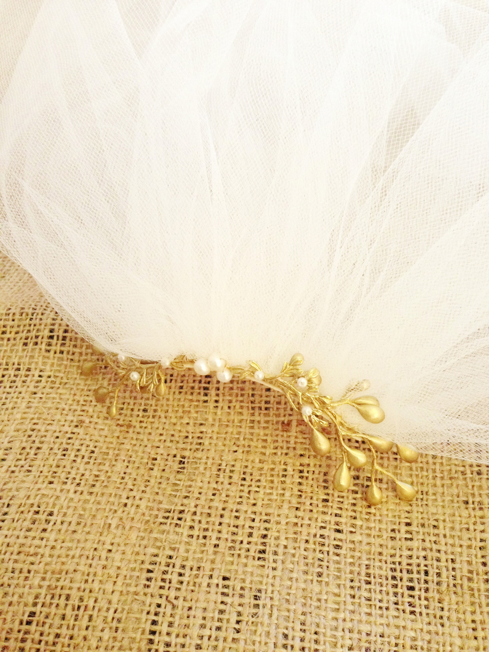gold tulle veil branch wedding hushed commotion 2.jpg