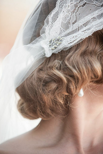 wedding cap lace veil brooklyn hushed commotion
