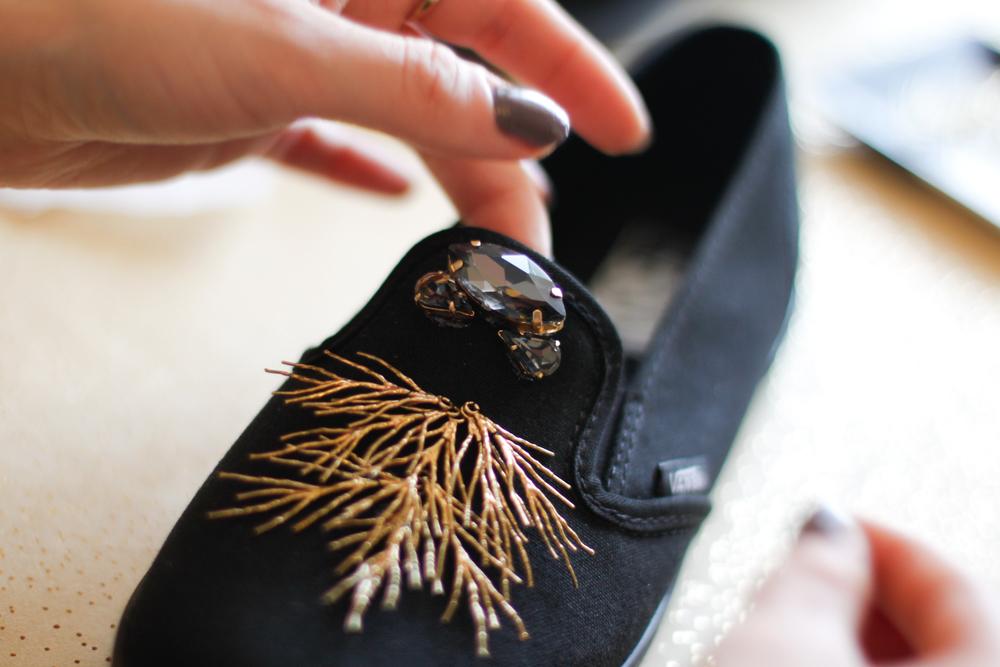 DIY sneakers step 2