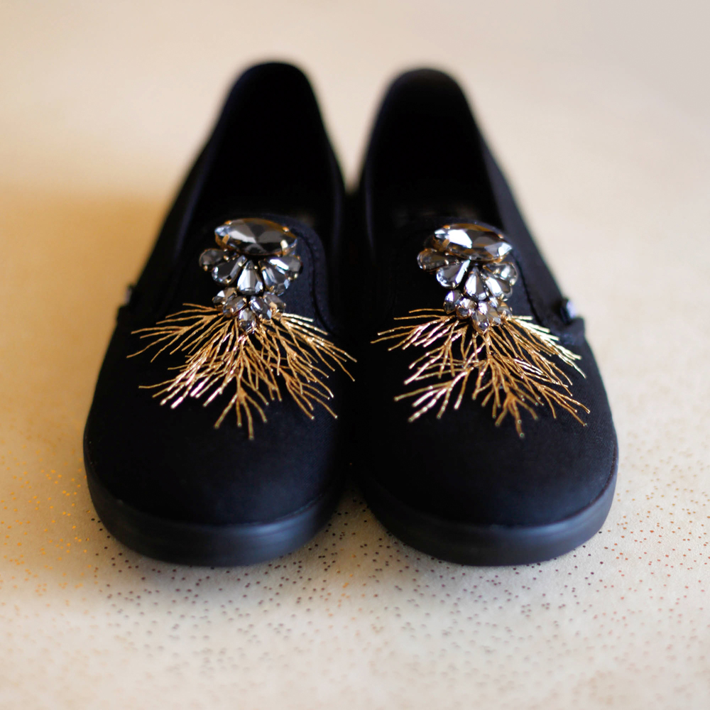 Game of Thrones DIY gold crystal sneakers