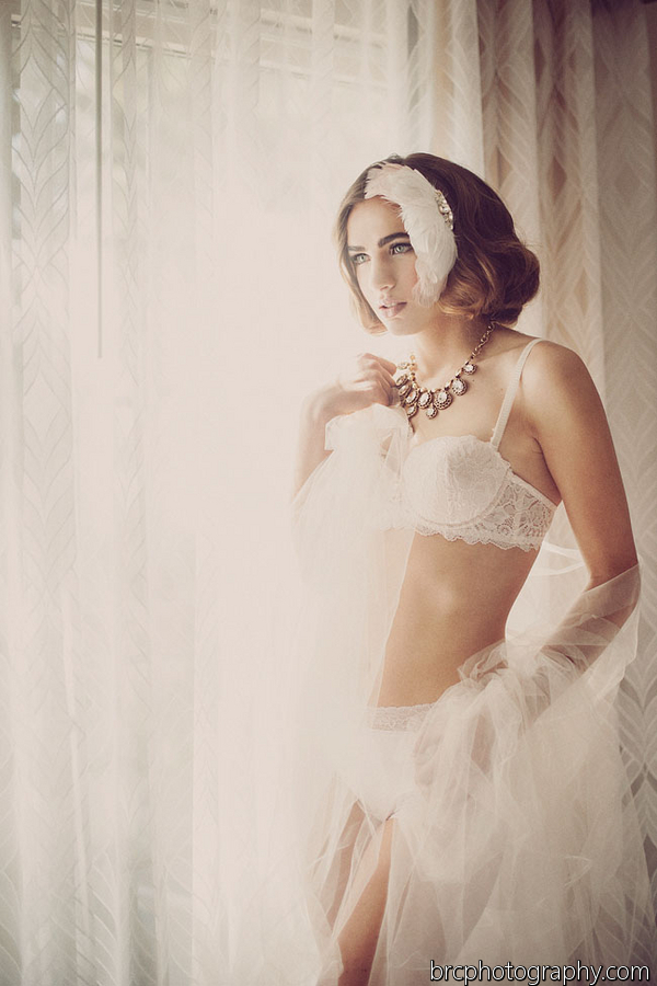 retro boudoir shoot from hushed commotion and BRC Photo