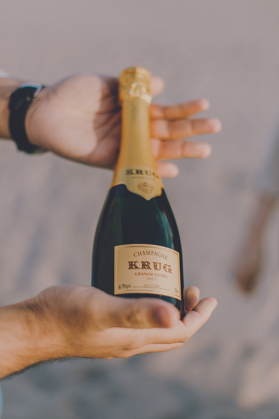 Rachit had this delicious (and adorable 1/2 bottle) of Krug he had been saving for a special occasion...I think this counts!