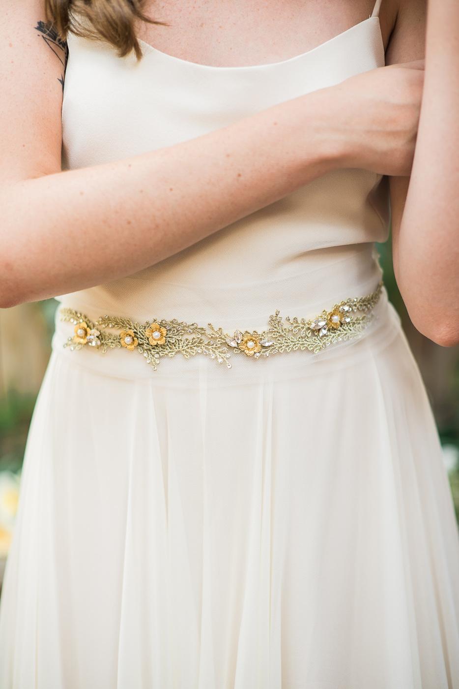 gold vine and flower belt hushed commotion