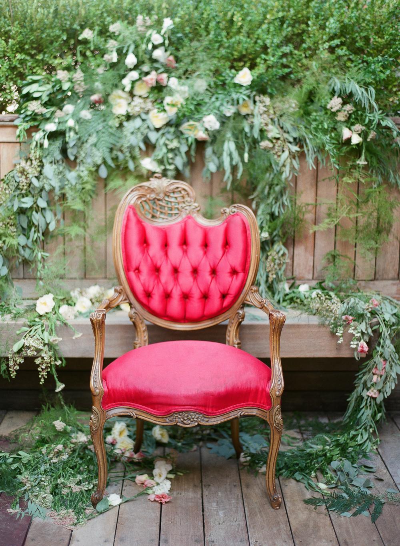 spring flowers pink chair lindsay rae design brklyn view