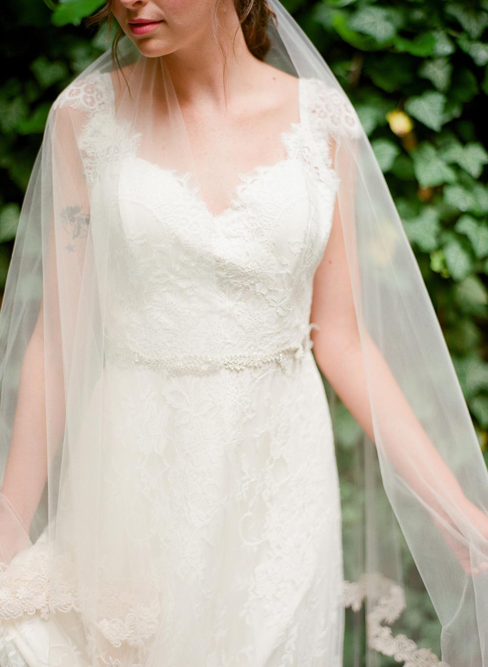 vine and crystal belt garden wedding hushed commotion