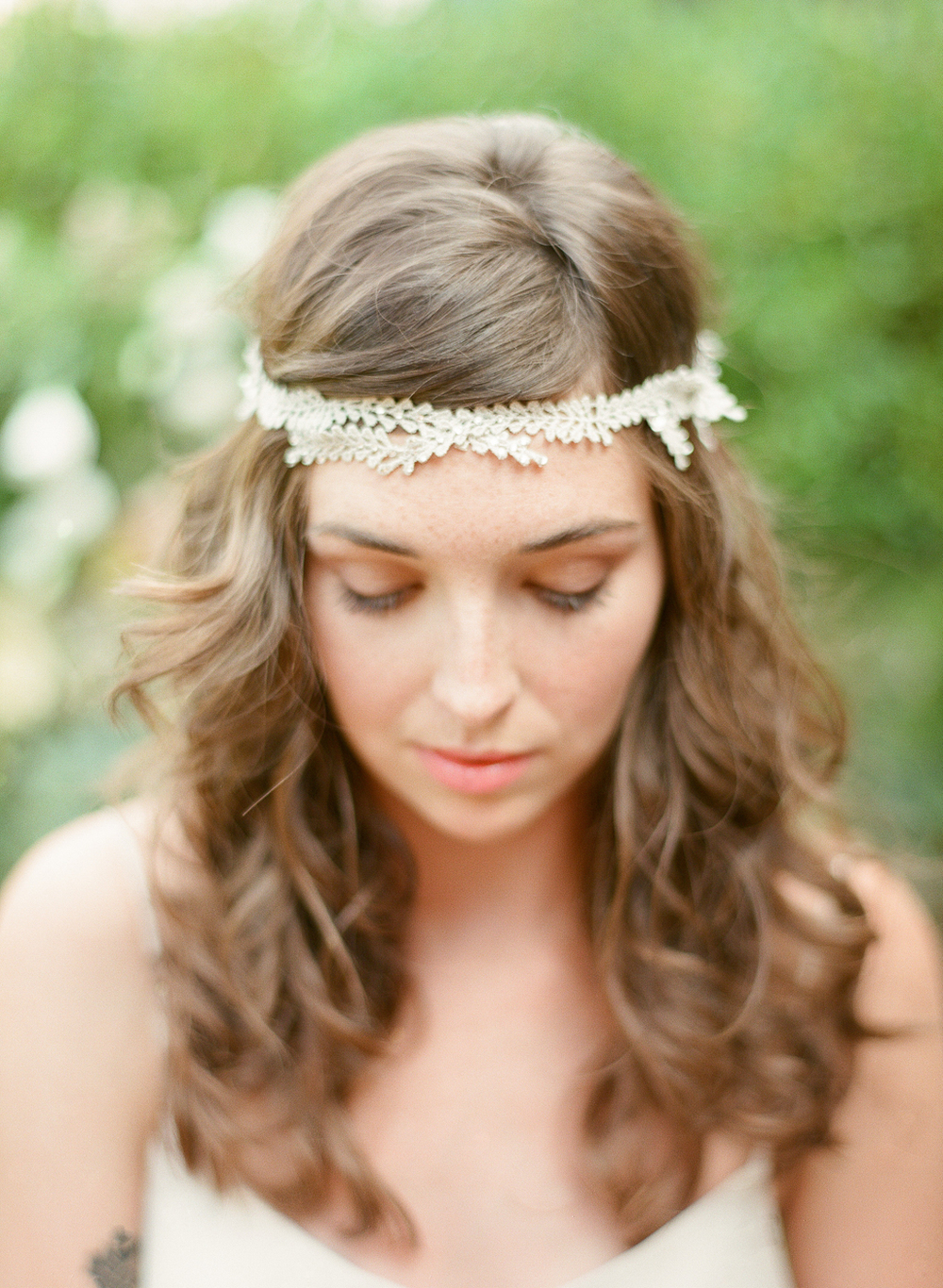 wedding halo silver crystal vine hushed commotion