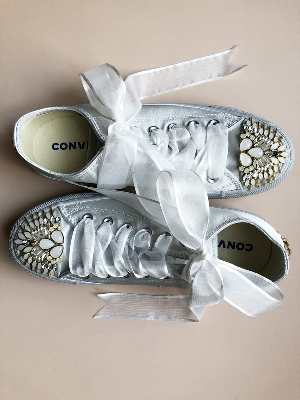 beaded sneakers, hushed commotion.jpg