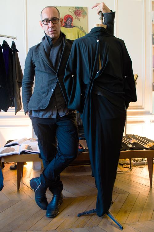 Gustavo Lins at his presentation showroom in Paris. Photo by Claudiu Berechet.