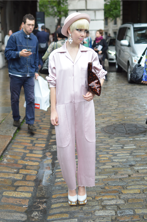 Street Style Satin Jumpsuit LFW SS14 - Full Shot.png