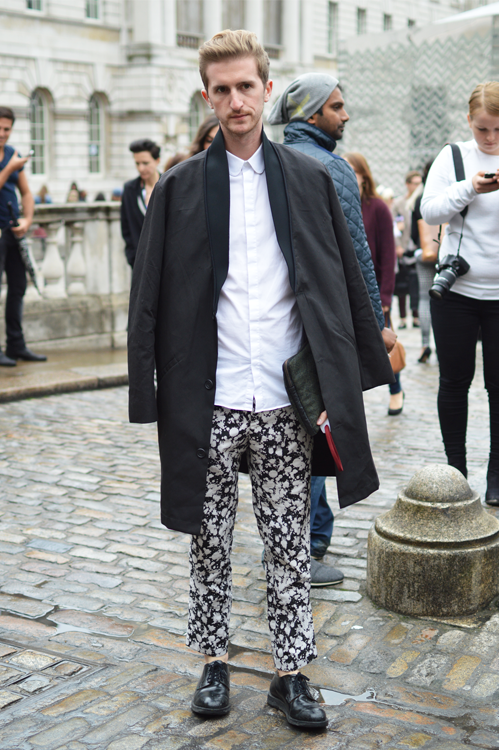 Street Style Hint of Print LFW SS14 - Full Shot.png