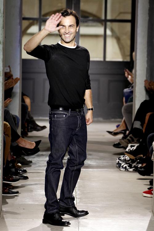 NicolasGhesquière at his last Balenciaga womenswear show (Spring/Summer 2013).