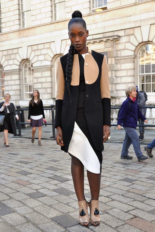 Street Style LFW SS14 'Tone Play' (Designer and Model Jacqueline) - Full Shot.jpg