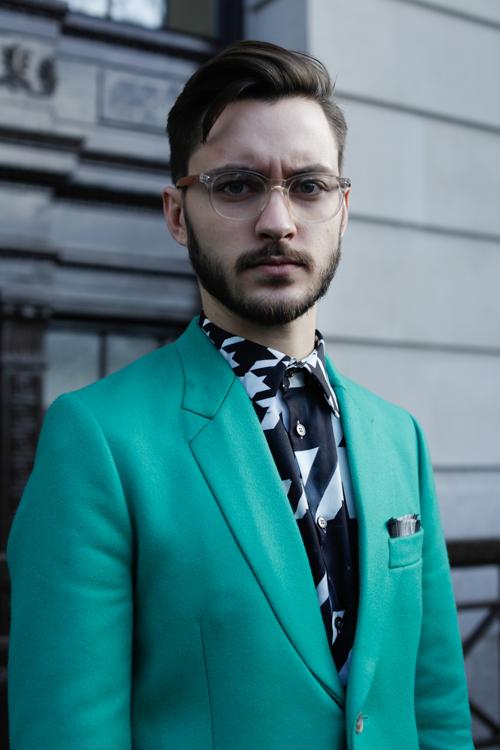 Street Style LCM AW14 'Piercing Green' (Menswear Writer and Stylist - Adam Titchener) - 01.jpg