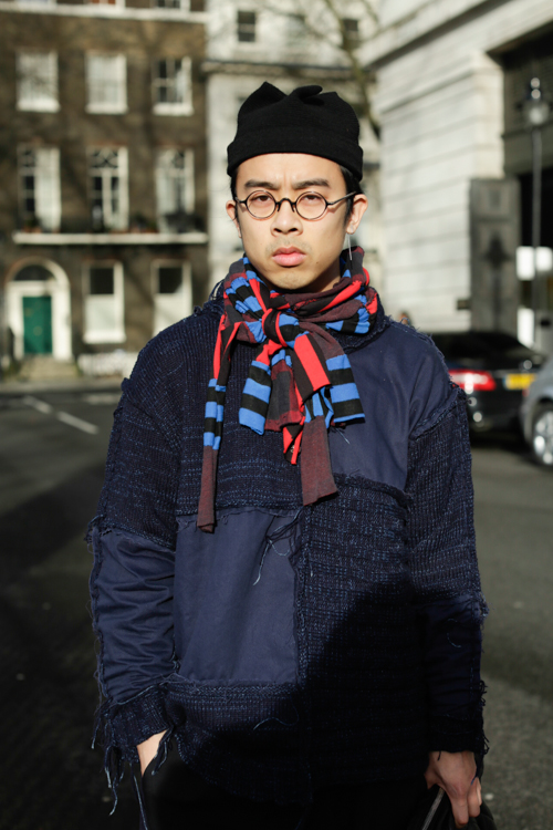 Street Style LCM AW14 'Lazy Patchwork' (Fashion Reporter - Jason Yao) - 01.jpg