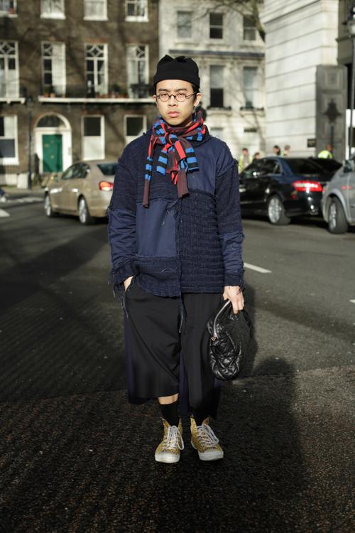 Street Style LCM AW14 'Lazy Patchwork' (Fashion Reporter - Jason Yao) - 02.jpg