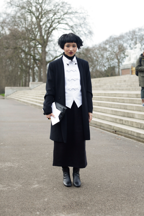 Street Style LCM AW14 'Addams Family' (Fashion Director Numero Thailand - Fame Boonyasit) - 01.jpg