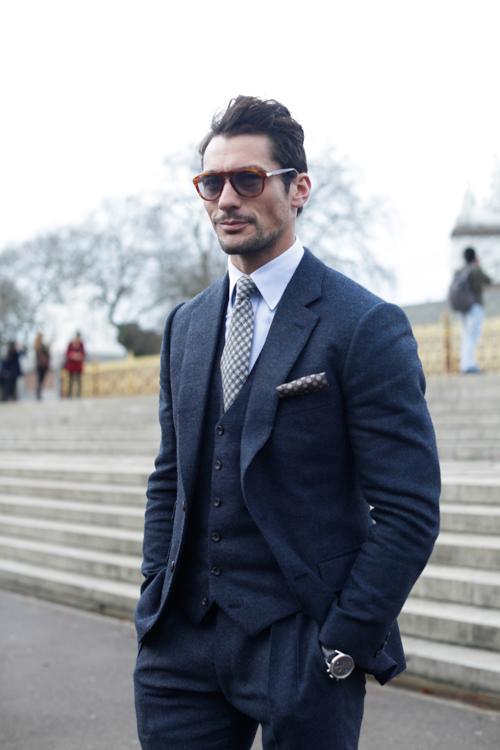 Street Style LCM AW14 'Gentleman Innuendoes' (Model - David Gandy) - 01.jpg