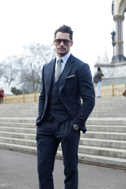 Street Style LCM AW14 'Gentleman Innuendoes' (Model - David Gandy) - 02.jpg