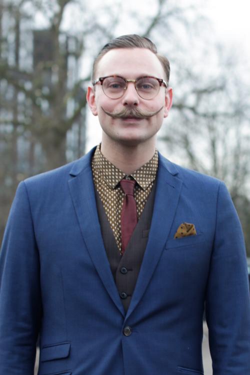 Street Style LCM AW14 'Moustache Mayhem' (Burberry Eyewear And Watch Designer - Ben Wykes) - 01.jpg