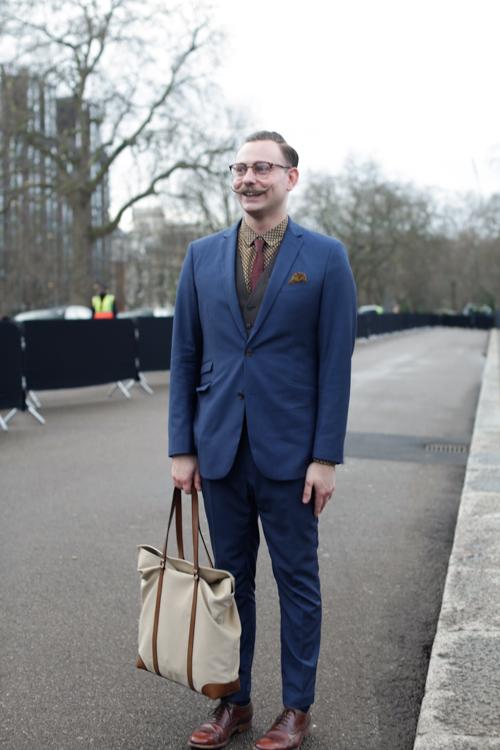 Street Style LCM AW14 'Moustache Mayhem' (Burberry Eyewear And Watch Designer - Ben Wykes) - 02.jpg