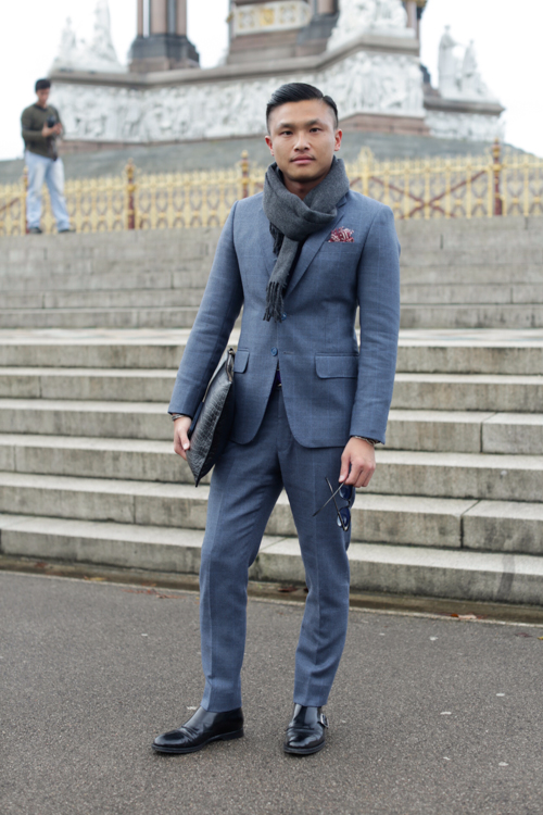 Street Style LCM AW14 'Tailored Blues Hues' (GQ China Senior Fashion Editor - Jacky Tam) - 02.jpg
