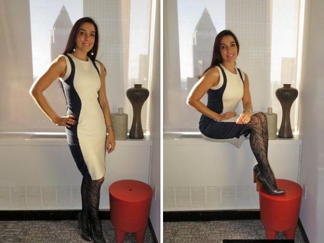 Este fue el look escogido por Kika Rocha, editora de moda y belleza para la Revista People en Español, para la presentación de la nueva colección de Prabal Gurung para las tiendas Target en el muelle Pier 57 de Nueva York.Foto: Oficial Kika Rocha