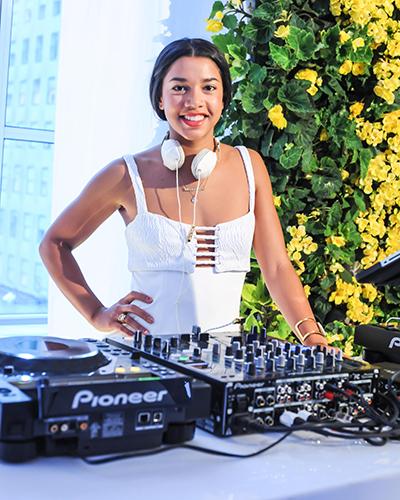 Hannah Bronfman manning the DJ table.jpg