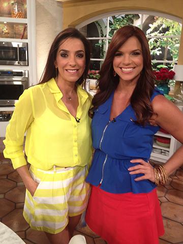 Con la preciosa Rashel Diaz empezamos la mañana llena de color!