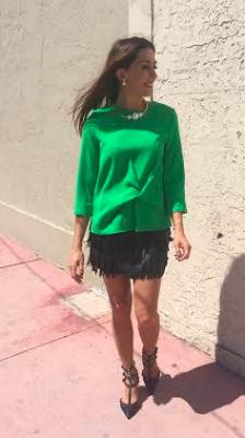 Falda de flecos: H&M