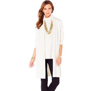 MarlaWynne Cable Knit Duster Sweater