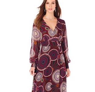 Kaya Di Koko Printed Wrap Style Dress