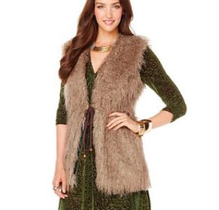 Nikki by Nikki Poulos Mongolian Faux Fur Vest