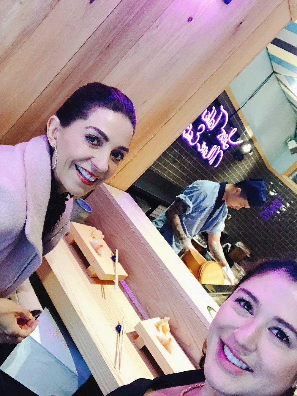 Con Jenn Morales compartimos un delicioso almuerzo con las especialidades del chef japonés