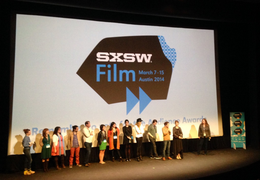 Q+A with the cast and crew of We'll Never Have Paris at Topfer Theater in Austin, TX after the SXSW world premiere.