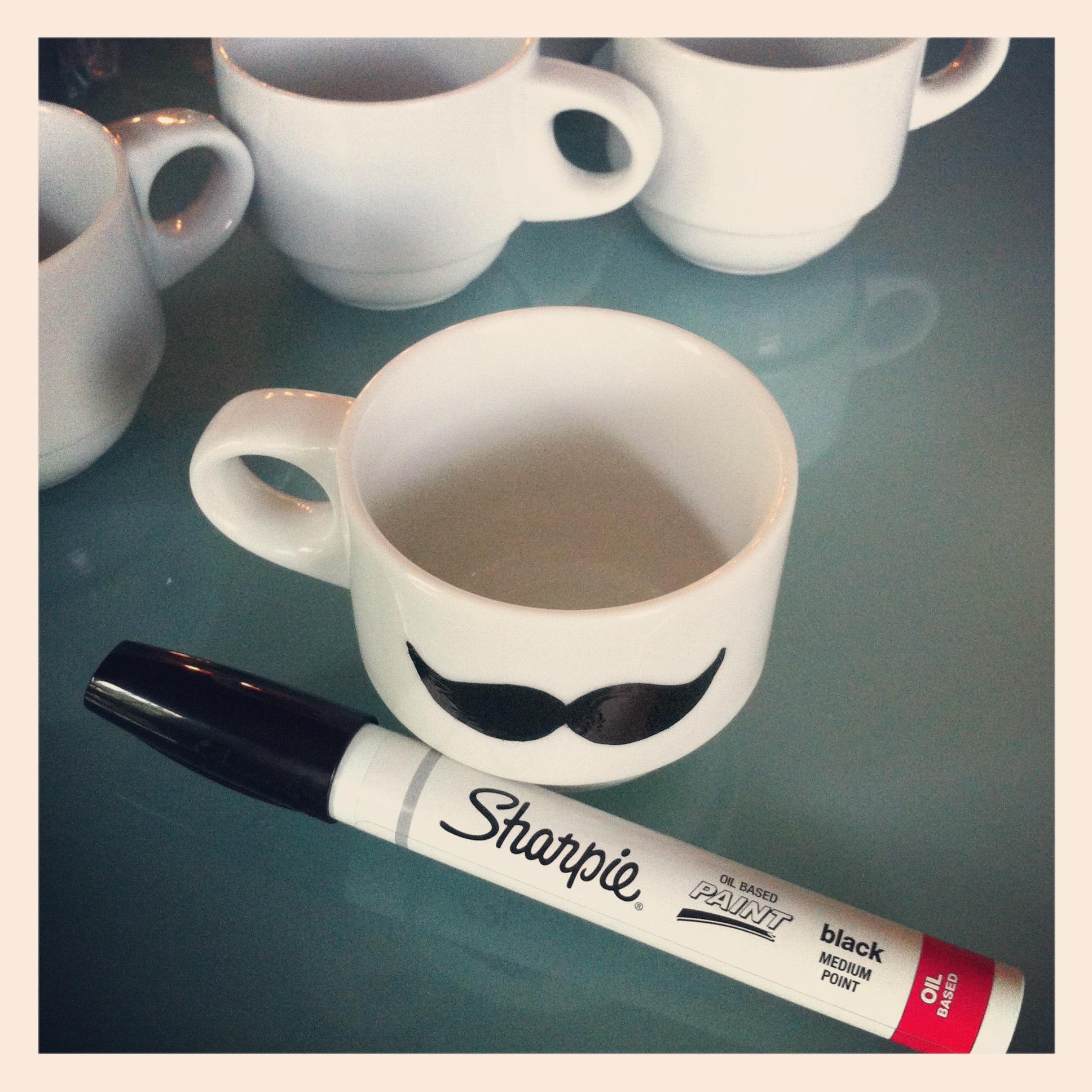 diy mustache mug trace and fill