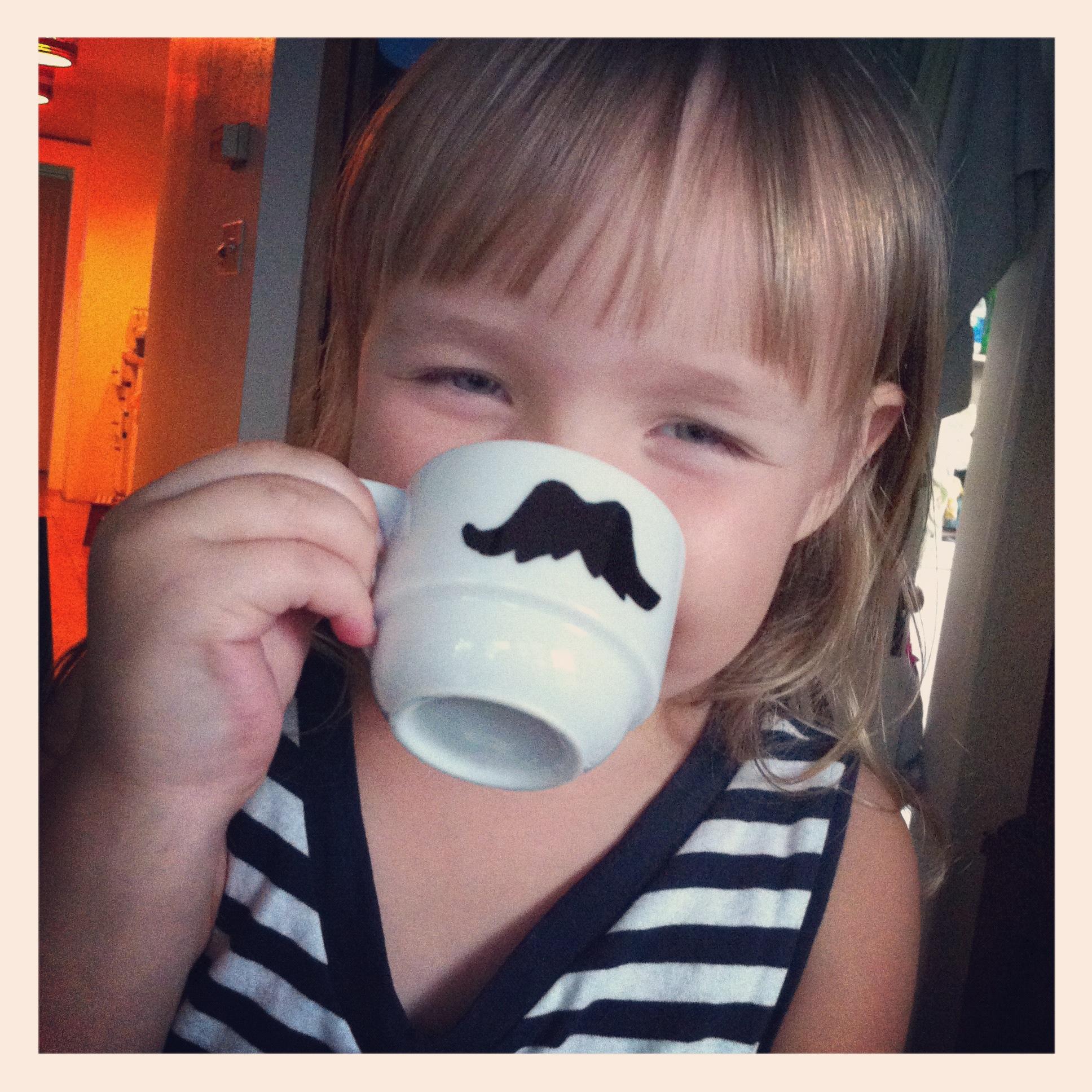 diy mustache mug model